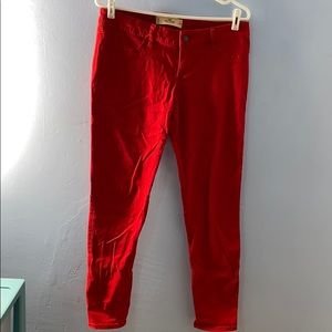 Red Hollister Super Skinny Jeans